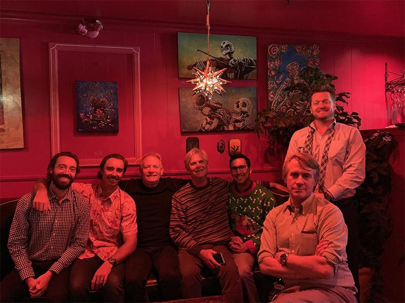 KMS Senior Partner James Kjar with KMS Partners Jason Petersen, Brian Selogie, Chip Cressey, Jon Schwalbach, Rick Wirick, and Ryan Deane at the 2018 KMS Holiday Luncheon