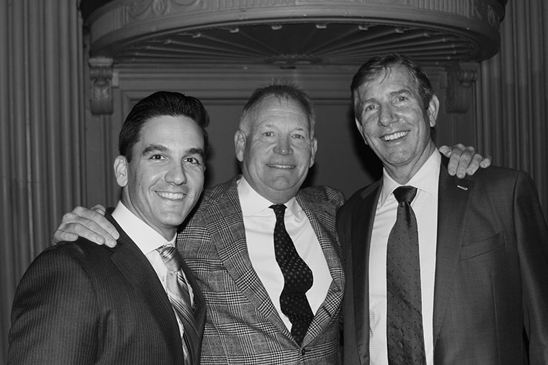 KMS Senior Partner James Kjar with attorneys Sean Burke and Jason Argos of The Law Offices of Sean M. Burke
