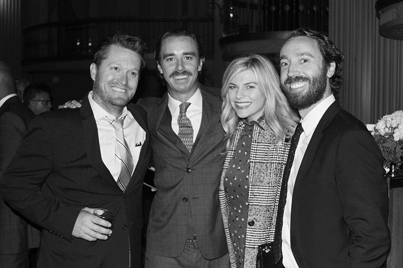 KMS Partners Ryan Deane, Jason Petersen, and Brian Selogie with Elizabeth Selogie