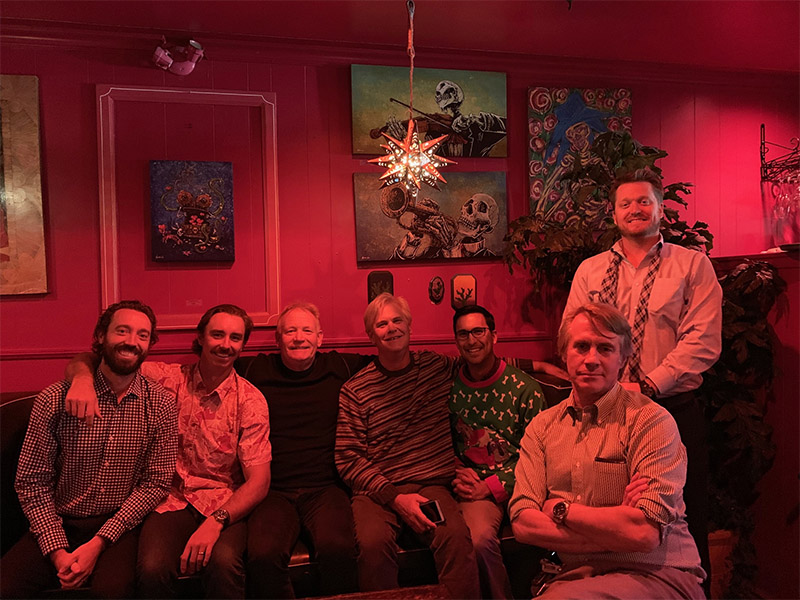 KMS Senior Partner James Kjar with KMS Partners Jason Petersen, Brian Selogie, Chip Cressey, Jon Schwalbach, Rick Wirick, and Ryan Deane at the 2018 KMS Holiday Luncheon