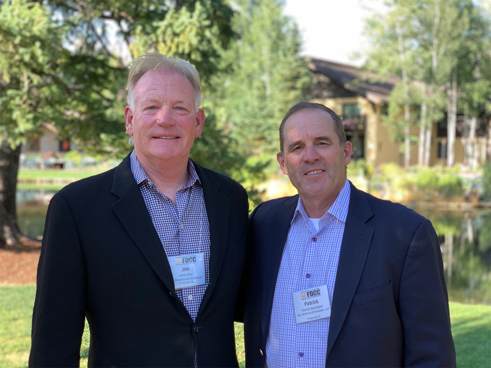 Jim Kjar and Pat Stockalper attend FDCC Annual Meeting in Sun Valley Idaho